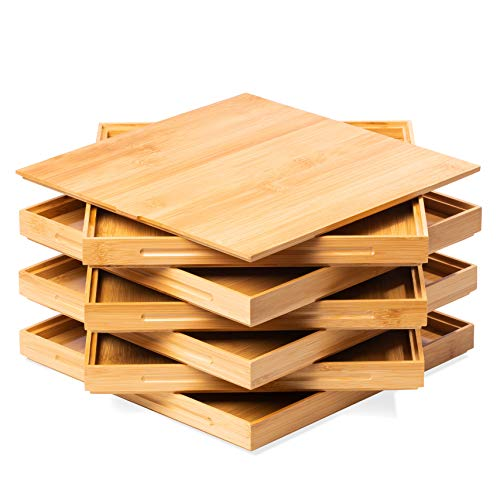 """Jigsaw Puzzle Sorting Trays in Bamboo - Stackable Wooden Puzzle Accessory and Organizer 