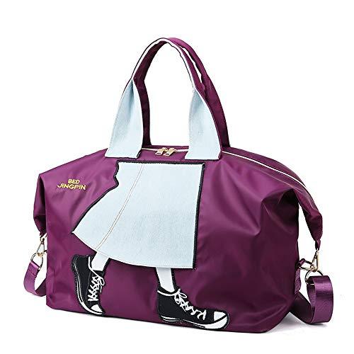 GXHGRASS korte afstand reistas, dames yoga Fitness schoudertas, grote capaciteit multi-functie weekend bagage Boarding Bag, prachtige decoratie, rits openen