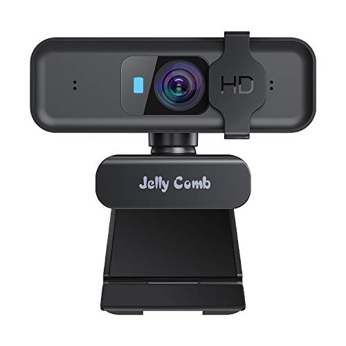 Webcam1080P HD Enfoque automático con Micrófono estéreo, Jelly Comb Cámara Web USB con Tapa para Skype, FaceTime, Zoom, XSplit, PC Mac Laptop Tablet Windows 10