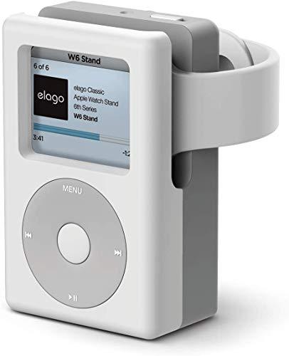 elago W6 Soporte Apple Watch Compatible con Apple Watch Series 6, SE (2020), 5, 4, 3, 2, 1 / 44mm, 42mm, 40mm, 38mm y el Modo de...
