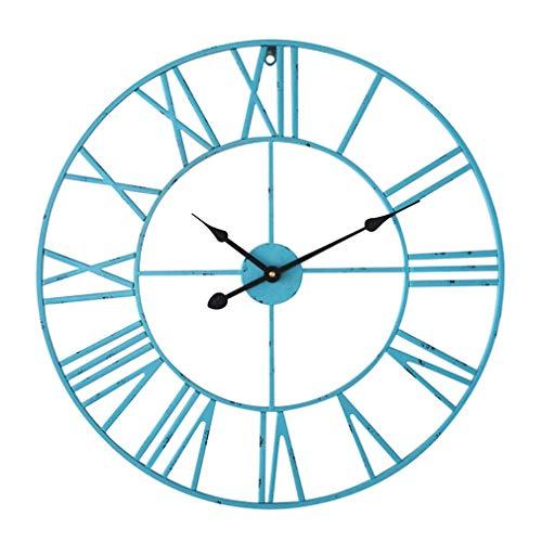 Antic by Casa Chic – Gran Reloj de Pared Metálico con Mecanismo Quartz - 60 cm...