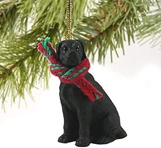 1 X Great Dane Miniature Dog Ornament - Uncropped Ears - Black