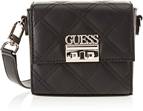 Guess - Status, Shoppers y bolsos de hombro Mujer, Negro (Black/Bla), 18x14.5x8...