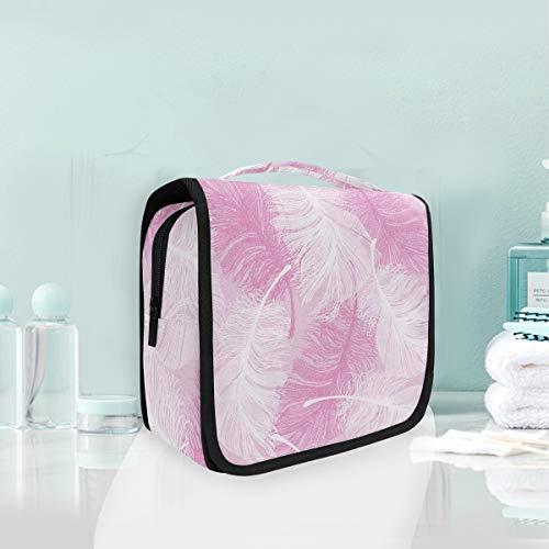 Bolso cosmético del maquillaje Bolso de la taza de tocador portátil del viaje del almacenamiento de la pluma rosada