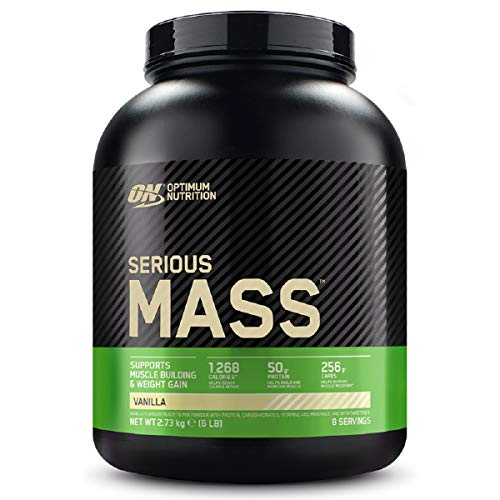 Optimum Nutrition Serious Mass Protein Powder High Calorie Mass Gainer with Vitamins, Creatine Monohydrate and Glutamine, Vanilla, 8 Servings, 2.73 kg, Packaging May Vary