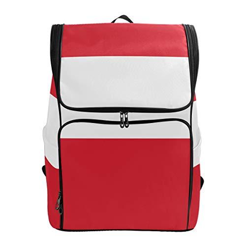 FANTAZIO Rucksack mit Flagge von Peru, für den Außenbereich, für Reisen, Wandern, Camping, Freizeit-Rucksack, groß