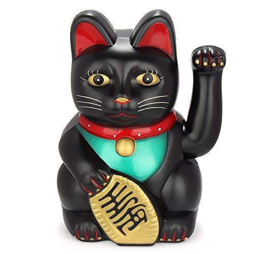 King Boutiques Maneki Neko Regalos 17.85m Gato de la Suerte Suerte Riqueza elctrico Guio agita del Gato Gato Que tienta Maneki Feng Shui Crafts Decoracin del hogar