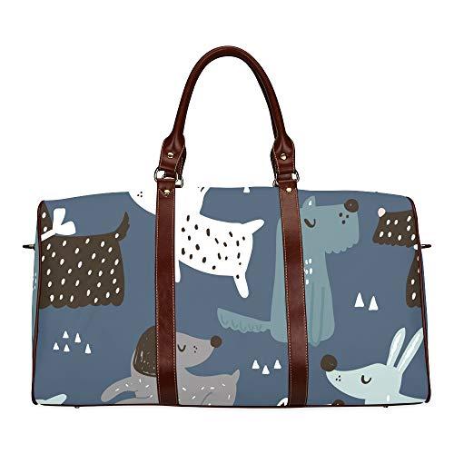 Mens Bag Travel Smart Dog Friend Puppy Animal Waterproof Microfiber Leather Carryon Bag Backpack Handbag Large Duffel Bag Fashion Woman Bag Best Weekend Bag