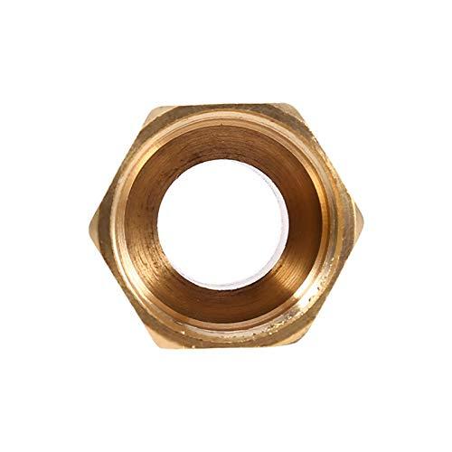 Adaptador de tubo de rosca hembra de latón 1 / 2BSPT macho y 3 / 4BSPT, reductor de tubería de agua con buje hexagonal para caldera de agua de calefacción por suelo radiante, etc.