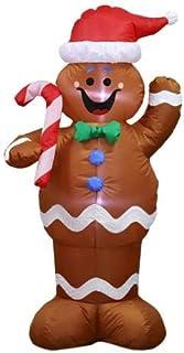 Decoración Inflable De Navidad De Santa Papa Noel Luces LED Tela Plastico Santa Claus Hinchable Patio Jardín Decoraciones De Navidad, 1.5M