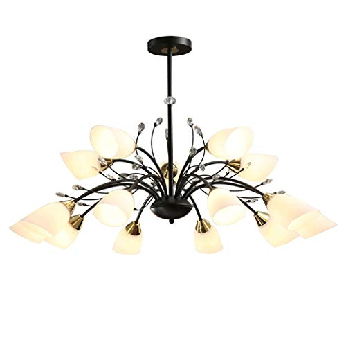 YI0877CHANG Iluminación Colgante Living Room lámpara lámpara de la lámpara de la lámpara Dormitorio Comedor Sala de succión del hogar de la lámpara lámpara de suspensión