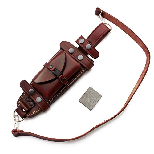 GCS Custom Handcrafted Sheath for Hunting Knife Survival Knifes Bowie Fixed Blade Knives Dual Carry Horizontal Vertical Sheath Combat for Men self Defense Tactical Military Full Tang Trench