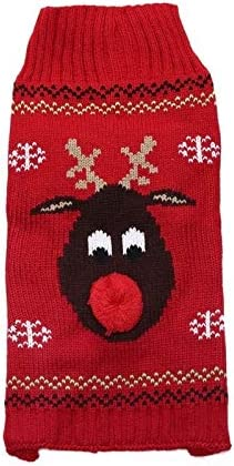 Mawson-Soft Red-Nosed Inventory cleanup selling sale Reindeer SALENEW very popular! Dog Clothes Christmas Sweater
