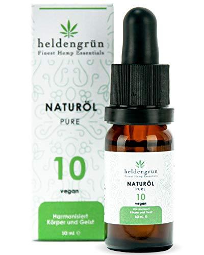 Heldengrün® Premium Naturextrakt Pure 10 - Laborgeprüfte Qualität - Hohe Reinheit mit aktiven Terpenen - Naturöl Tropfen 10 ml - Harmonisiert Körper und Geist - Hergestellt nach ISO-Zertifizierung