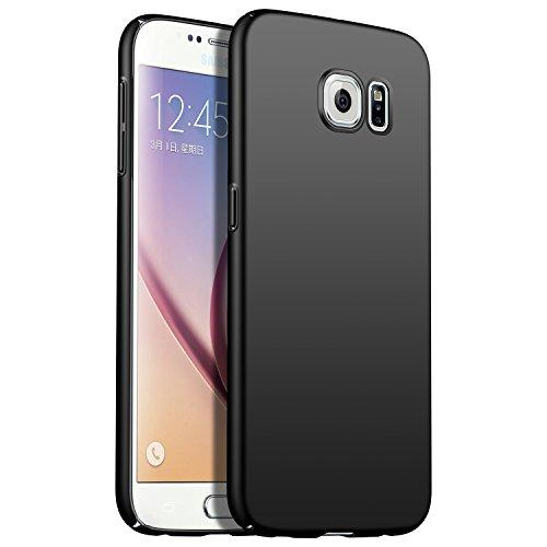 N+A Amosry Funda Samsung Galaxy S6,Absorción de Golpes Anti-Rasguños PC Esmerilado Funda Protectora para,Mate para Samsung Galaxy S6 (Negro)