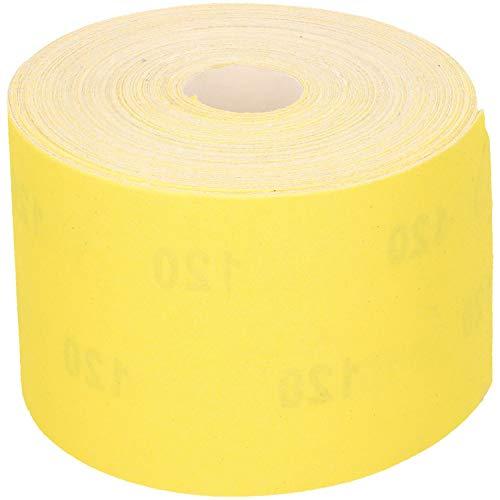 FASTER TOOLS Rollo de papel de lija (50 m, 115 mm, grano 40-240, tamaño: 80)