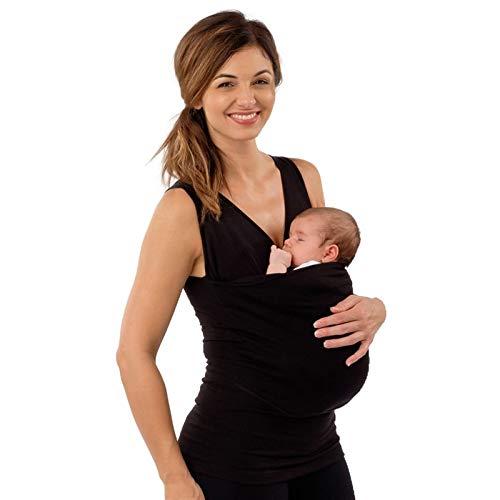 Fular Portabebés Elástico Portador de bebé Multifuncional para Mujer, Camisetas K angaroo para calmar, Camiseta para Hombre, papá, bebé, Portador para recién Nacido, Manos Libres