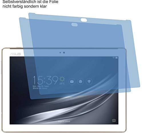 4ProTec I 2X Crystal Clear klar Schutzfolie für Asus ZenPad 10 Z301MFL Bildschirmschutzfolie Displayschutzfolie Schutzhülle Bildschirmschutz Bildschirmfolie Folie