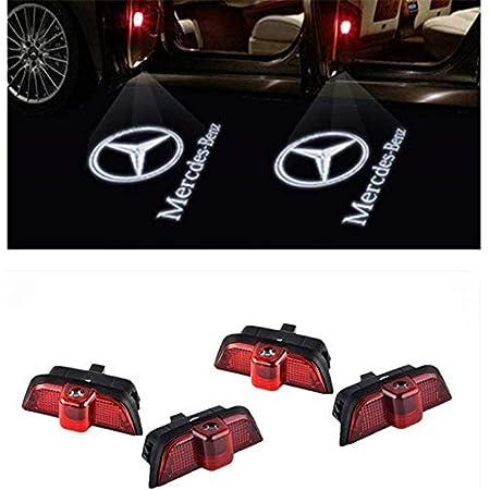 Ztmyzfsl 4 Stücke Auto Logo Projektion Projektor Tür Geister Shadow Light Willkommen Lampe Licht For 4 204 Auto