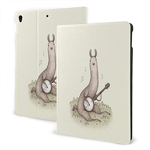 Musician Llama Fit Generation Ipad 10.2 Case - Slim Lightweight Smart Shell Stand Cover with Translucent Frosted Back Protector