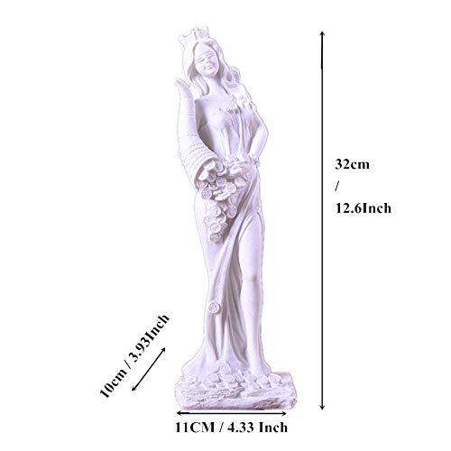 YZMY Estatuas Decoracion Escultura Figuras 6,5 Cm Resina Gato Estatua Artesanía Animal Escultura Blanca Micro Paisaje Pequeño Ornamento Decoración del Hogar Accesorios Regalos