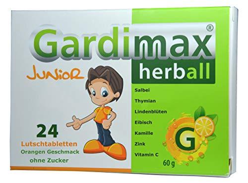 Für Kinder, 24 Lutschtabletten, gegen Bakterien, Extrakte aus Salbei, Thymian, Kamille, Eibisch, Lindenblüten, Vitamin C, Zink, Halsschmerztabletten, Erkältung vorbeugen