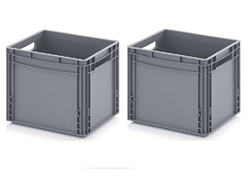 2x Eurobehälter 40 x 30 x 32 inkl. gratis Zollstock * 2er Set