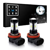 SIRIUSLED H8 H11 LED bulb for car truck Fog Light 30W 6000k Super Bright White Projection Pack of 2