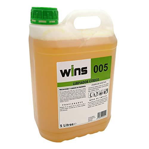 Limpiador Fregasuelos Profesional Neutro, eficaz en todas las superficies, aroma cítrico, garrafa...