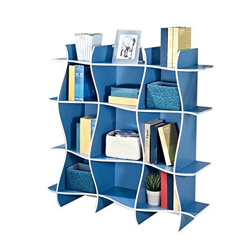 AXJa Bücherregal Bücherregale Wandregale Kinder Bücherregal Home Source Spielzeug Aufbewahrungseinheit Kinder für Kinderzimmer Spielzimmer Starke Stabilität,Schwarz,