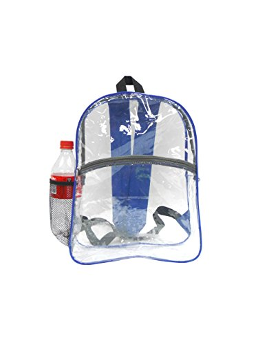 Clear See Through Transparent Backpack for BookBag, WorkBag, Daypack Easy Stadium Security Check...