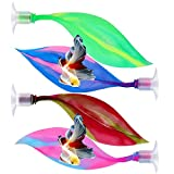 DISHUECO Cama de descanso de cría simulando hábitat Betta Leaf hamaca para acuario decoraciones 4 piezas