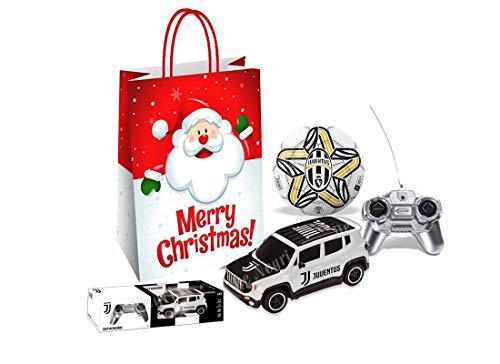 mo ndo Idea Regalo Bianconera (Jeep Renegade R/C +Shopper SJU12+Mini Palla+ coccarda)