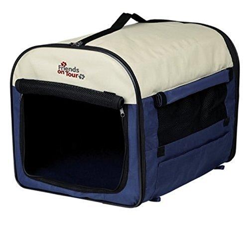 Trixie 39704 Mobile Kennel, M: 55 × 65 × 80 cm, dunkelblau/hellblau