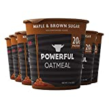 Powerful | Maple & Brown Sugar | High Protein Instant Oatmeal | Natural Ingredients | 20g Protein (6 Count)