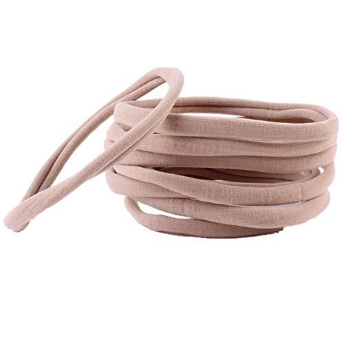 Puseky 10 stuks baby kinderen meisjes comfortabele naadloze elastische haarkoord ring haarband paardenstaart houder haaraccessoires