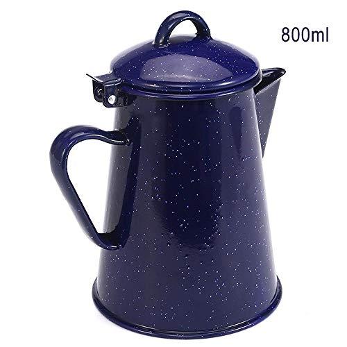 Cafetera Esmalte Tetera de café Tetera de mano de alta calidad Tetera Tetera Vintage Decoración para el hogar Tetera estrellada azul cielo, A
