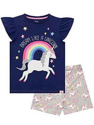 Harry Bear Pijamas para Niñas Unicornio Azul 7-8 Años