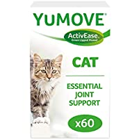 Multi-action joint supplement for cats growing older and stiffer Aids comfort, supports joint structure and promotes mobility, thanks to ultra-high quality Omega 3s from our unique ActivEase Green Lipped Mussel, plus a blend of Glucosamine, Manganese...
