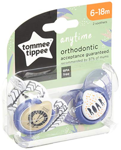 Tommee Tippee Closer to Nature Soothers, 6-18 Monate, 2 Pack (Sortiert Model)