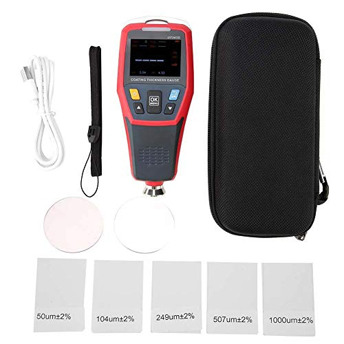 Tester per misuratore di spessore per rivestimento digitale UT343D Tester per misuratore di vernice con funzione dati USB 0-1250um