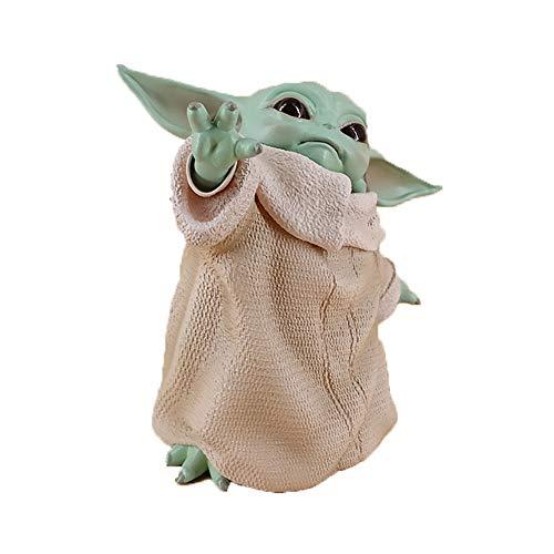 HHY-X Juguete Peluche Yoda del bebé de 15 cm, Juguete de PVC en Miniatura, muñeca de Regalo para el Día de los niños