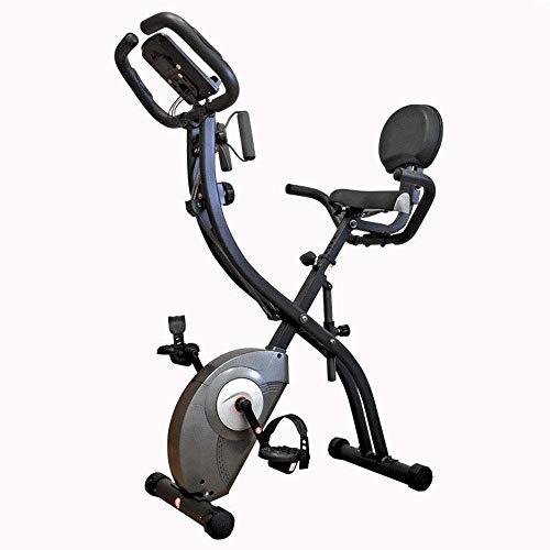 GJNVBDZSF Máquina elíptica, máquina de Entrenamiento Cruzado, hogar, Control magnético silencioso, Bicicleta estática, Pedal Plegable, Bicicleta Deportiva con Respaldo Spinnfitness Motion