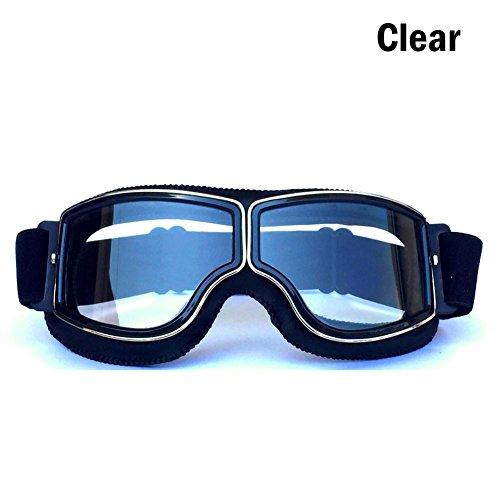 Seasaleshop motorbril veiligheidsbril UV oogbescherming winddicht motorcross veiligheidsbril Uvex Goggles motorcross rijbril voor outdoor activiteiten skiën fietsen snowboard wandelen oogbescherming door Zwart frame + transparante film