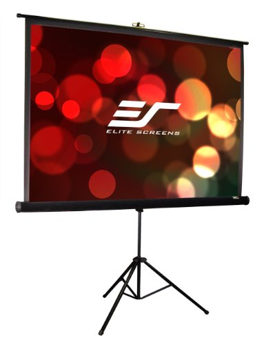 Elite Screens Tripod Pro Series, 113-INCH 1:1, Adjustable Multi Aspect Ratio Portable Indoor Outdoor Projector Screen, 8K / 4K Ultra HD 3D Ready, 2-YEAR WARRANTY, T113UWS1-PRO