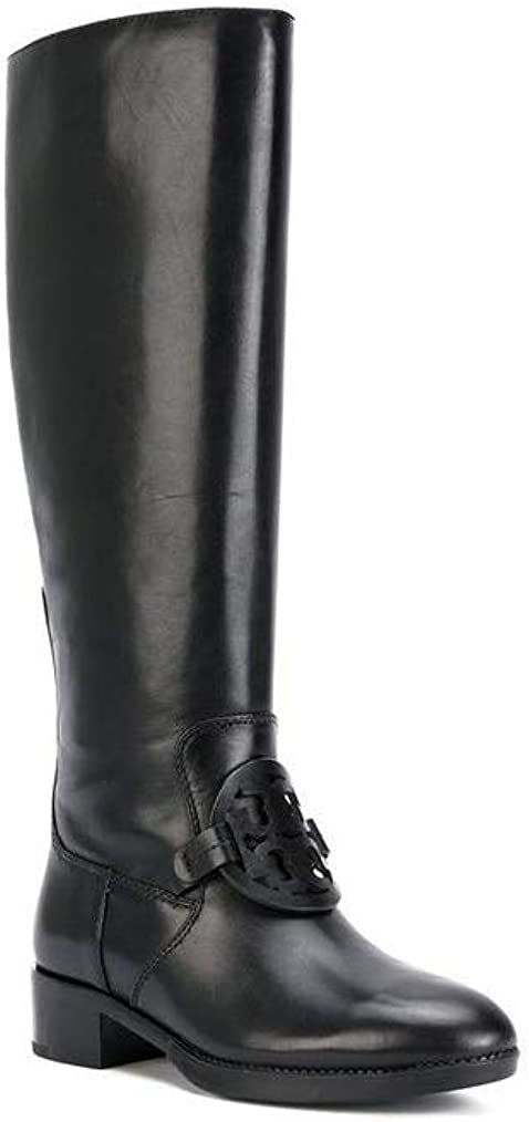 Tory Burch Miller Leather Boots, Black