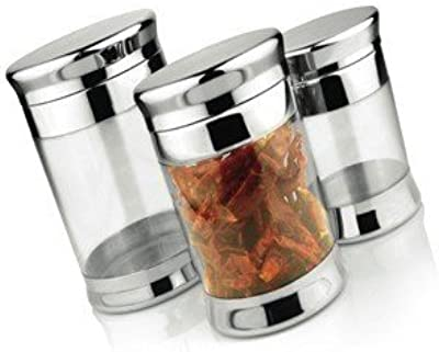 JVL Option Clear Canister Set, 5-Pieces