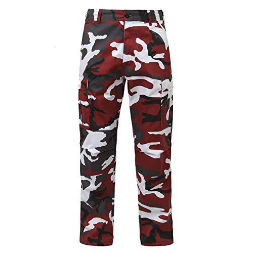 Rothco Camo Tactical BDU (Battle Dress Uniform) Military Cargo Pants, Red Camo, M