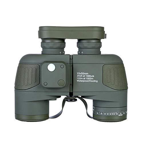 Sale!! NAMBM Marine High Waterproof Professional Binoculars 10×50 Compass Telescope Binoculars Hunting Digital Night Vision, Green