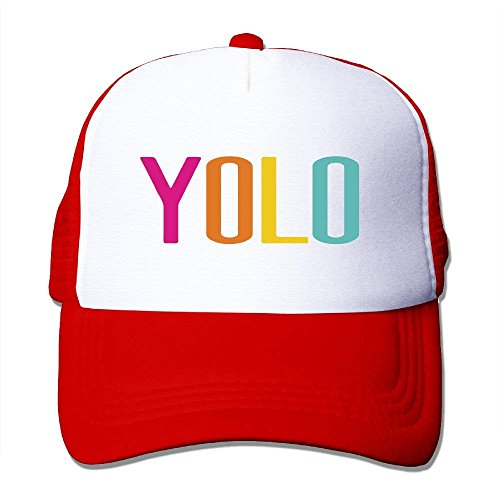 Wamnu Trucker Motto You Only Live Once-YOLO Mesh Back Baseball Cap